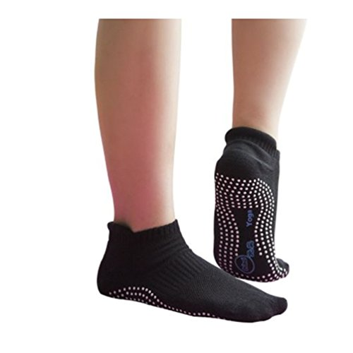 Yoga Socks Girls Anti Skid Breathable Fitness Pilates Black Women 2 Pairs US Size:5-9, UK Size: 3-7.5