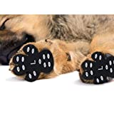 LLNstore Dog Paw Protector, Dog Paw Pads Anti-Slip Traction Pads Dog Pad Traction Disposable Self Adhesive Dog Shoes Alternative Replaceable to Keep Paws Clean 24pcs for 4 Paws