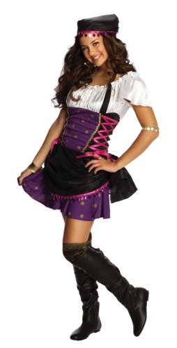 Rubies Gypsy Tween Costume (Fits 2-4 Dress Size with Bracelet for Mom) - Gypsy Costumes For Tweens