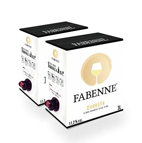 Fabenne Kit 2 Unidades Vinho Branco Moscato - Bag-in-Box 3 Litros cada