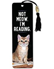 Peter Pauper Beaded Bookmark, Not Meow I'm Reading