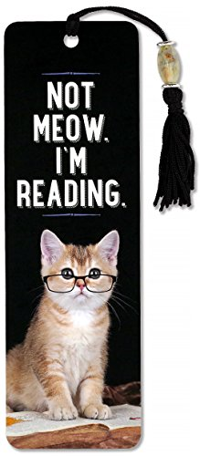 - Not Meow. I'm Reading. Beaded Bookmark