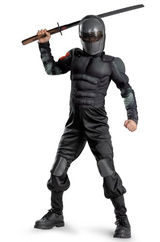 Snake Eyes Classic Muscle Kids Costume Size: 10 - 12 -
