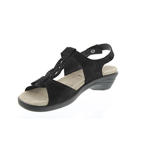 Semler U4055-040-001 Ute mujer Sandalia ancho H negro