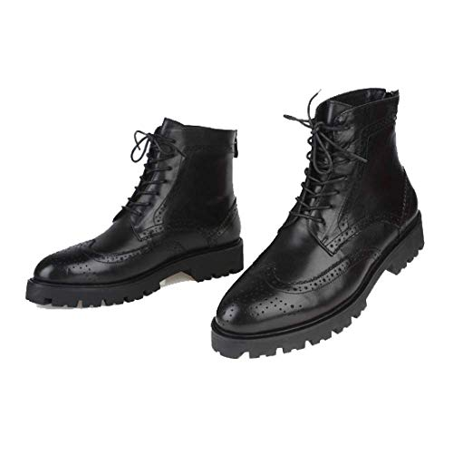 Pelle in Scarpe Alte Martin Uomo Moda da Scarpe Stivali Black Scarpe Inghilterra Scarpe Brock Trend p0r0Rxnw