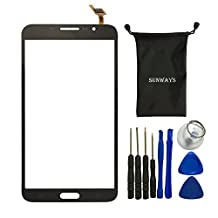 Sunways Touch Digitizer Screen Replacement For Samsung Galaxy Mega 2 SM-G750 G750F G750A G750H With device opening tools(Black)