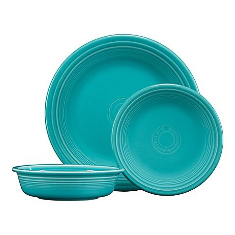 Classic Place Setting - Fiesta 3-Piece Classic Place Setting in Turquoise