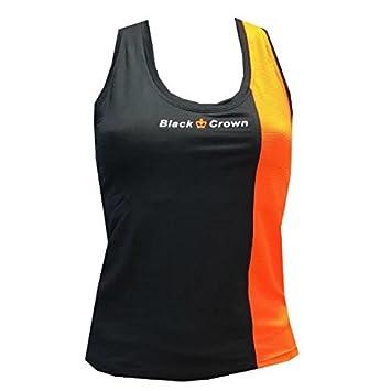 Camiseta Padel Black Crown Mujer Berna Negro/Naranja-S ...