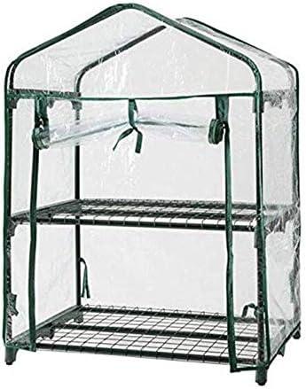 ガーデニング温室屋内屋外暖かい部屋三次元2層フラワースタンド透明PVC防雨保温大容量ストレージベアリング強いベイイング