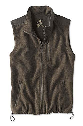 Orvis Men's Waxed Cotton Trimmed Fleece Vest, Brown, Xx Large (Vest Orvis Cotton)