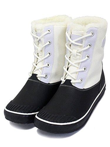 シャーク破裂甥(キーン) KEEN Women's Elsa L Boot WP (ウィメンズ エルサ エルブーツ ウォータープルーフ) Star White/Black KN186