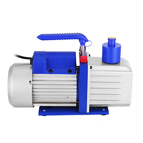 VEVOR Vacuum Pump 9CFM 1HP Two Stage HVAC Rotary Vane Vacuum Pump Wine Degassing Milking Medical Food Processing Air Conditioning Auto AC Refrigerant Vacuum Pump (2-Stage, 9CFM) by VEVOR (Image #2)