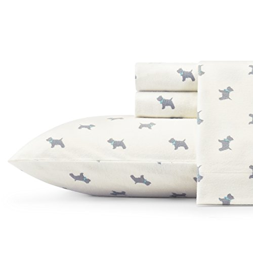 (Laura Ashley Scottie Sheet Set Twin Grey)