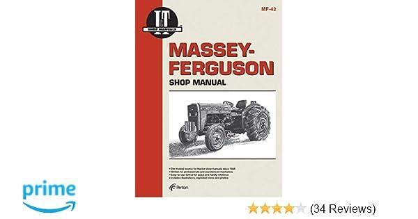 massey ferguson shop manual models mf230 mf 235 mf240 + (mf-42): penton  staff: 9780872884113: amazon com: books