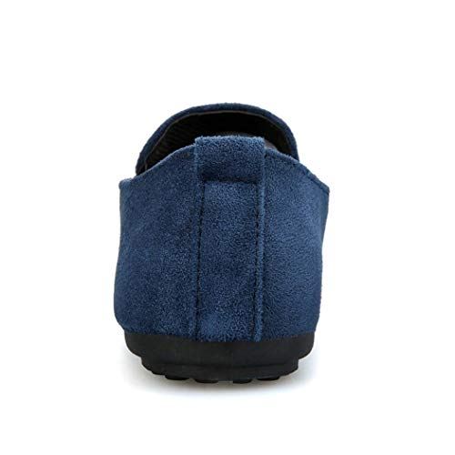 GAOPF Ricamo da Pantofola Uomo da Vintage Blu Felpa per Nobile Uomo Fumatori con xxpwd8qv