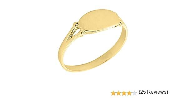 Amazon Women s 10k Yellow Gold Signet Ring Jewelry