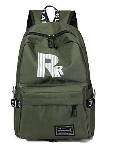 Matériel à Randonnée Militaire Daypacks Daypack Vert Femme de de Soie Odomolor Dos Sacs ROFBL181036 aTZqXw