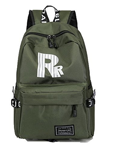 Army Green Zippers Hiking Women's Casual Gray Travel Daypacks Silk AalarDom TSDBH181057 v1TzBnq