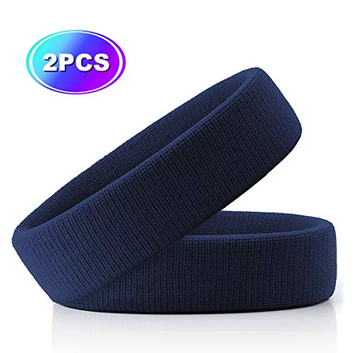 Hoter Sweatband Headband Wristbands Athletic Exercise Basketball Wrist Sweatband and Headbands Moisture Wicking Sweat Absorbing Head Band - Eye Flx