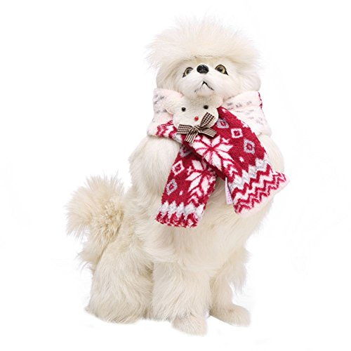 Image of Patgoal Pet Christmas Scarf Dog Warm Snowflake Pattern Scarf Costume for Dogs and Cats