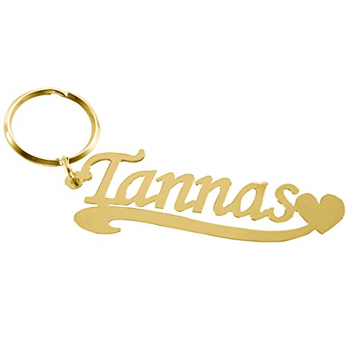 Golden Buddha Halloween Costume (Ouslier 925 Sterling Silver Personalized Name Key Chain Custom Made with Any Names (Golden))
