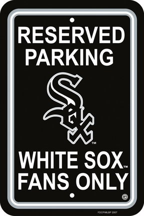 Chicago White Sox PLASTIC PARKING SIGNS SET OF 2