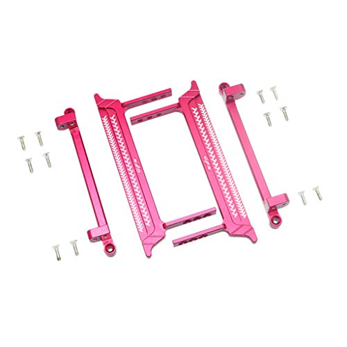 - Ktyssp Metal Pedal Foot Side Steps Upgrade Parts for RC Crawler 1/10 Tamiya CC-01 (Pink)