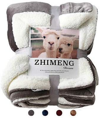 Sherpa Fleece Blanket Quality Throw Queen Twin Plush  Warm Winter Couch Bed