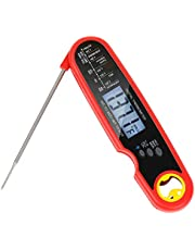 Jagrom IPX7 Waterproof Food Meat Thermometer for Cooking, Digital Instant Read Kitchen Food Candy Thermometer, Highly Accurate Cooking Thermometer with Long Folding Probe, Backlight and Magnet
