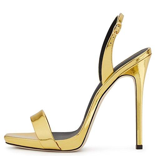 caviglia cinturino Scarpe Amy alla Gold con donna Q q11PwUH7
