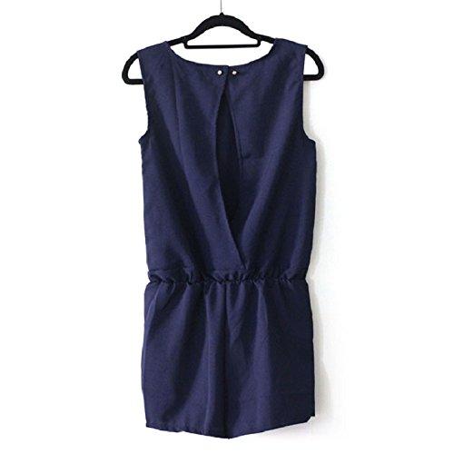 Malloom® Les Femmes Sans Manches Bowknot Casual Pantalons Courts Combinaison Barboteuse Combishort