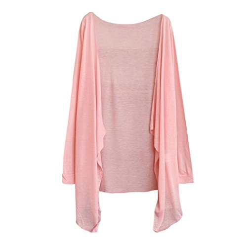 Long Mince Blouse Cardigan Sun Femmes Protection Clothing Rose Coton d't Modal chale Cardigan Tops HENPI des Blended 0n4IIR