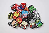 15 pcs Cartoon Shoe Charms PVC, for shoes with