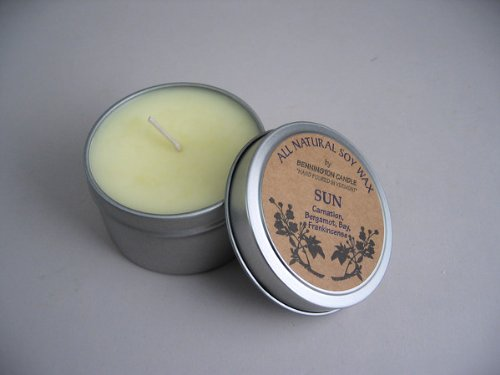 All Natural Soy Wax By Bennington Candle (SUN) - Carnation, Bergamot, Bay, Frankincense