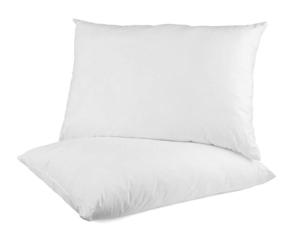 Looms & Linens Luxury Long Pillow Insert(2 Pieces) - Premium Stuffing 100% Hypoallergenic Pillow Sham - Super Plush Fiber & Poly Filling - Dust Mite Resistant Washable Pillows (16'' L x 36'' W)