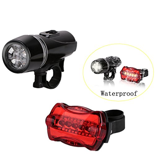 Makerfun Led Bicycle Light Headlights Bike Taillights - Waterproof and Easy to Mount Quick-Release by Makerfun