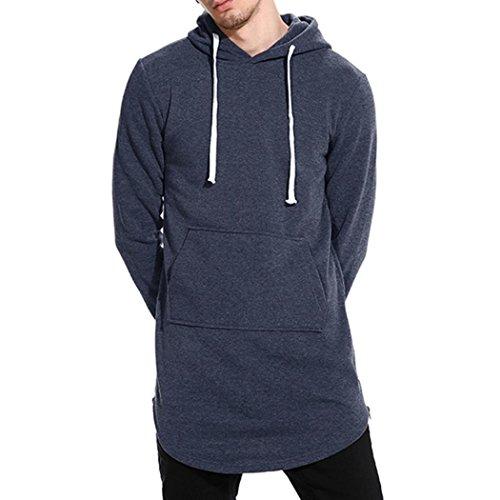 Realdo Mens Hooded Sweatshirt, Autumn Winter Casual Solid Tops Jacket Coat Outwear(Dark Grey,Small) for $<!--$16.69-->