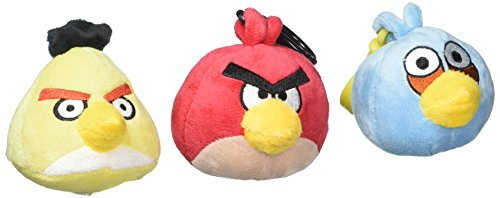 Angry Birds Plush Backpack Clip Assortment by Commonwealth Toys (Image #1)