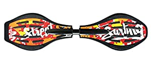 Streetsurfing Waveboard The Wave G1 Splash, Red/Orange, 500019