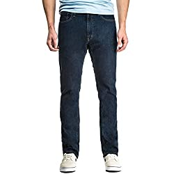 CCS Banks Slim Straight Fit Men's Jeans with Comfort Stretch - Light Indigo - 28 X 30