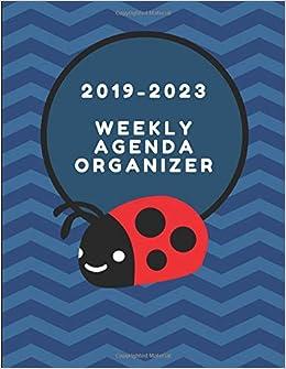 2019-2023 Weekly Agenda Organizer: Ladybird Themed Chore ...