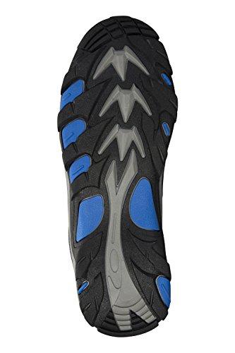 Mountain Warehouse Rapid Stiefel für Herren - Wasserfest, Wildleder, Wanderstiefel mit griffiger Sohle, Netzfutter, Stoßfänger im Zehen- und Fersenbereich - Für Reisen Grau