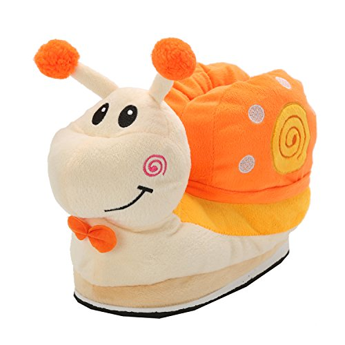 Unisexe Maison Adulte Doux Taille Hiver Orange Chaud Flanelle 35 Pantoufles Escargot Chaussures Chaussons de Animeaux 40EU wgxfHzwqX
