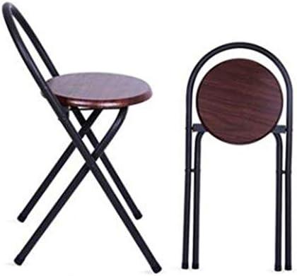 JIANGPENG Chaise Pliante Portable Dossier Chaise Salle à Manger Chaise Adulte ménage siège en Bois Tabouret Pliant Petit Tabouret Rond Tabouret Haut (1 pièce)