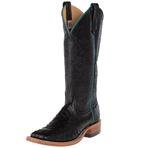NRS Anderson Bean Womens Full Quill Cowgirl Boots 8.5 B(M) US Black (Anderson Women Boots Bean)