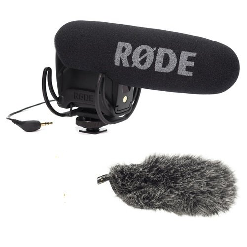 Rode Microphones VideoMic Pro Compact Shotgun Microphone, 200 Ohms - Bundle - with Deadcat VMP Furry Wind Cover for VideoMicPro by Rode