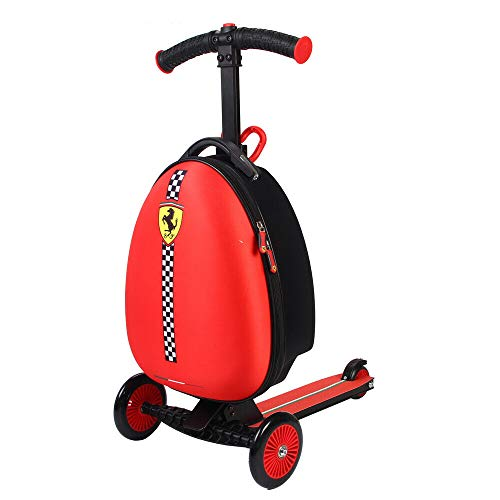 74bde24a377f Ferrari Kids Scooter Luggage, Red