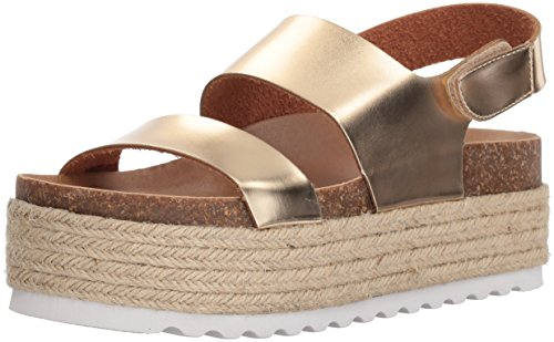 - Dirty Laundry by Chinese Laundry Women's Peyton Espadrille Wedge Sandal, Gold Mirror, 8.5 M US