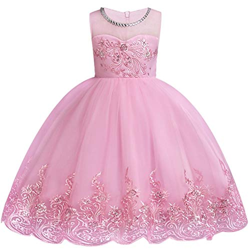 Baby Embroidered Formal Princess Dress for Girl Elegant Birthday Party Dress Girl Dress Baby Girl Christmas 2-14 Years,As Picture15,9 ()
