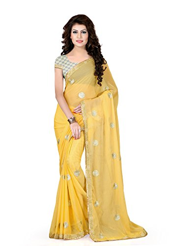 Oomph! Chiffon Sarees for Women Party Wear